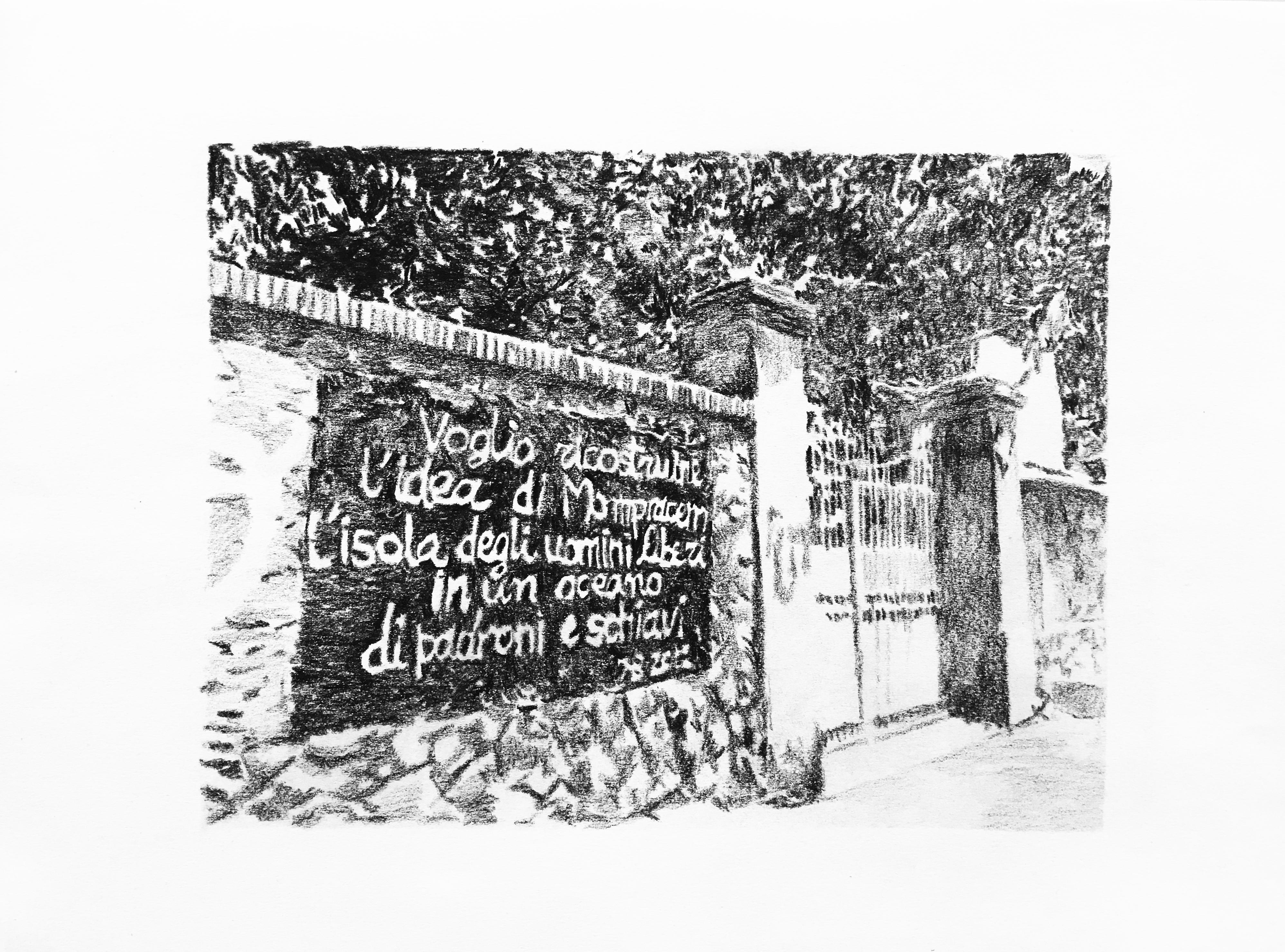26 Luglio 2016 h12,53 Roma, serie paesaggi sociali, matita su carta, 21x29cm